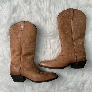 💫 Ariat Magnolia Western Boots Golden Tan ✨